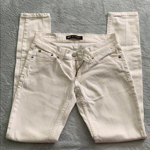 Levi's Too Superlow 524 White Skinny Jeans, NWOT